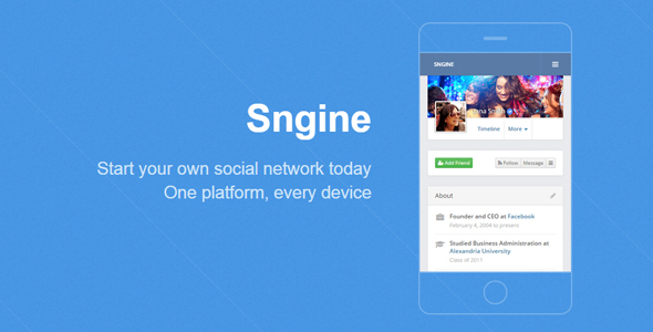 Sngine - The Ultimate PHP Social Network Platform
