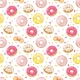 Download Vector Donuts Vector Seamless Pattern
