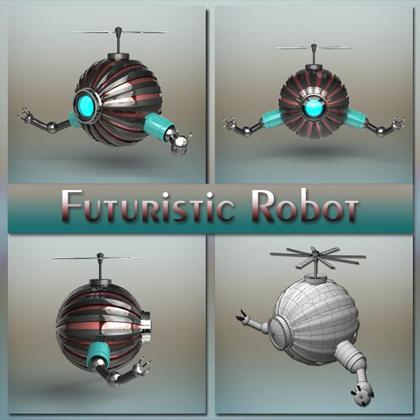 Futuristic Robot - 3DOcean Item for Sale