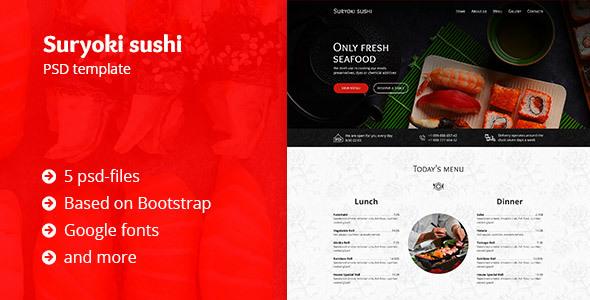 Suryoki Sushi - Restaurant PSD Template
