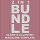 2 in 1 Clean & Ellegant Magazine Template