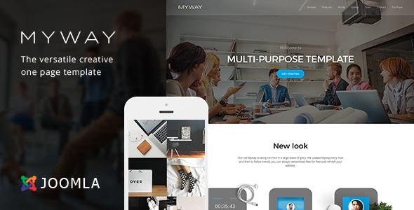 Myway - Joomla Responsive Onepage Template