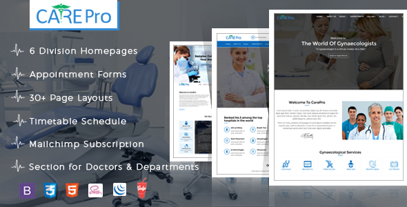 Themeforest Care Pro Medical Template 19253365