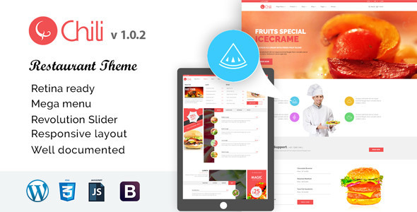 Download RedChili - WordPress Restaurant Theme nulled download