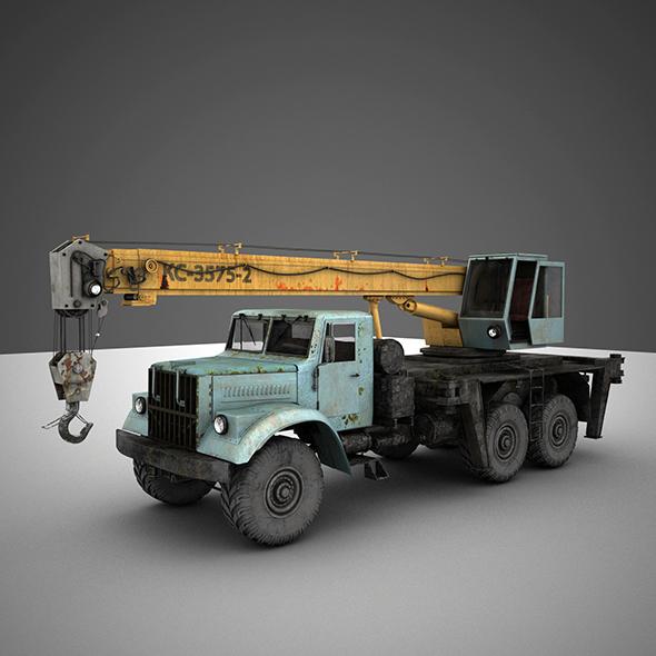 crane KrAZ - 3DOcean Item for Sale