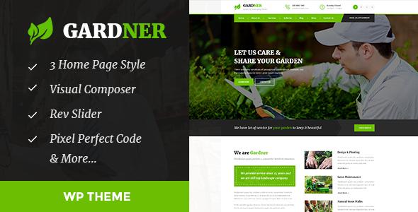 Download Gardener - Gardening, Lawn and Landscaping WordPress Theme