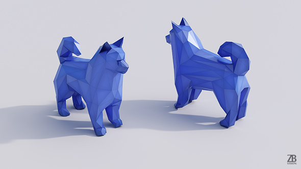 Lowpoly Samoyed - 3DOcean Item for Sale
