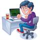 Hacker On Laptop Computer