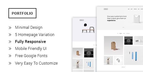 Download Portfolio - Minimal Portfolio HTML5  Template