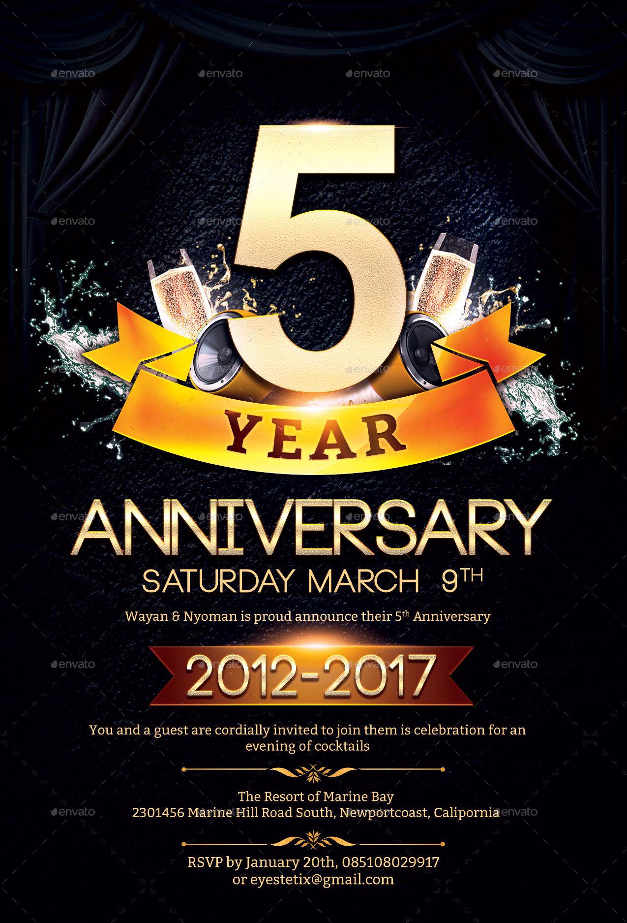 Anniversary Flyer by EyestetixStudio – Anniversary Flyer