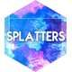 50 Watercolor Splatters Backgrounds