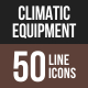 Climatic Equipment Line Multicolor Icons