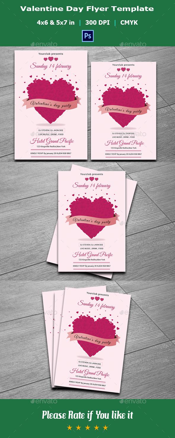 Valentine Day Flyer Template-V01