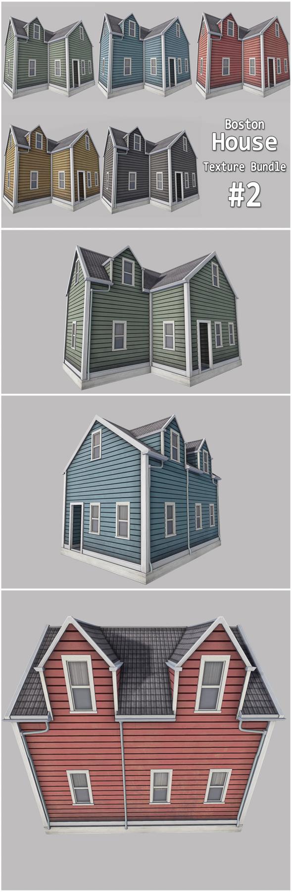 Boston House Bundle 02 - 3DOcean Item for Sale