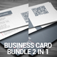 Sleek Minimal Business Card Bundle