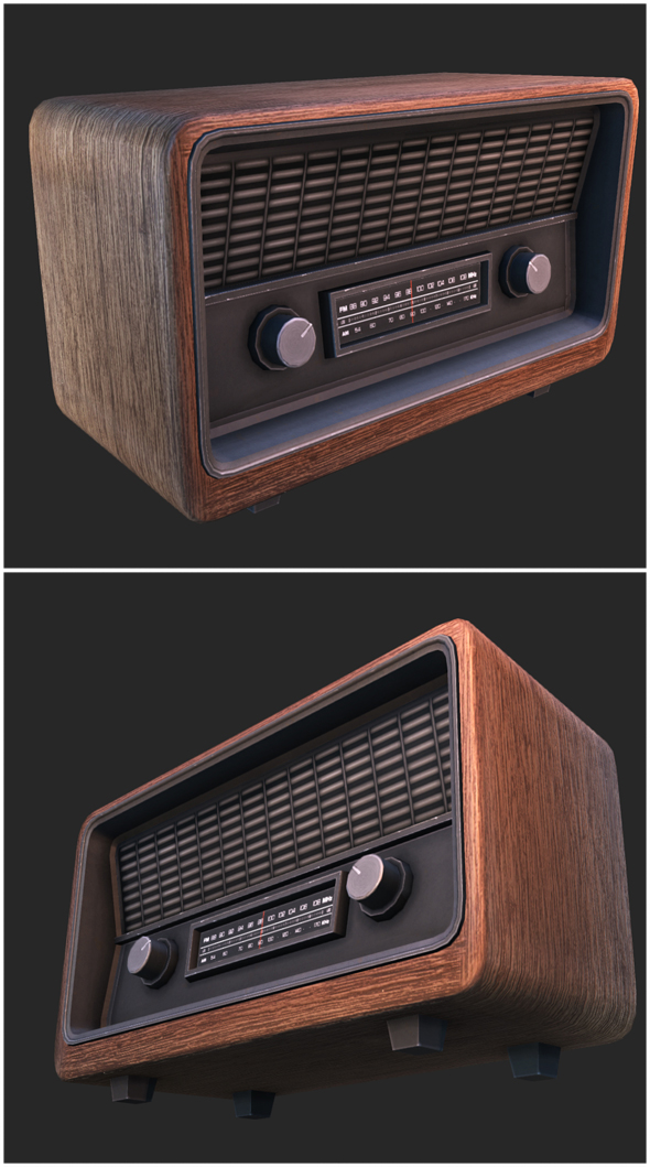 Retro Radio - 3DOcean Item for Sale