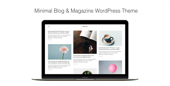 Download Maxima - Minimal Blog & Magazine WordPress Theme nulled download