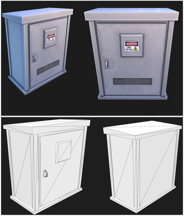 Utility Box 1 - 3DOcean Item for Sale