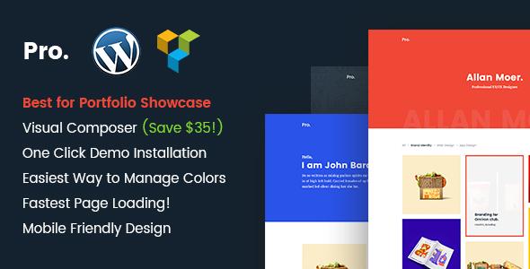 Pro - Mimimal portfolio WordPress theme
