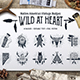 Wild at Heart Native American Vintage Badges Vol.1