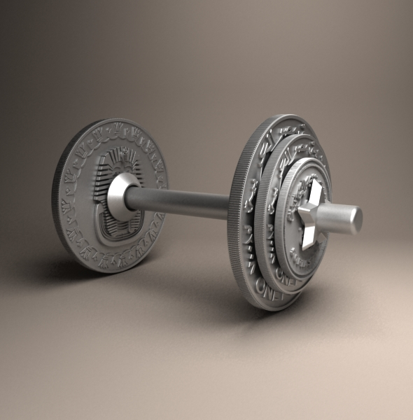 Egyptian dumbbell Pound - 3DOcean Item for Sale