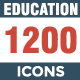 1200 Education 12 Styles Icon pack