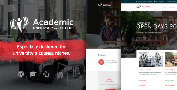 Academic – Education Theme For WordPress (Education) Download