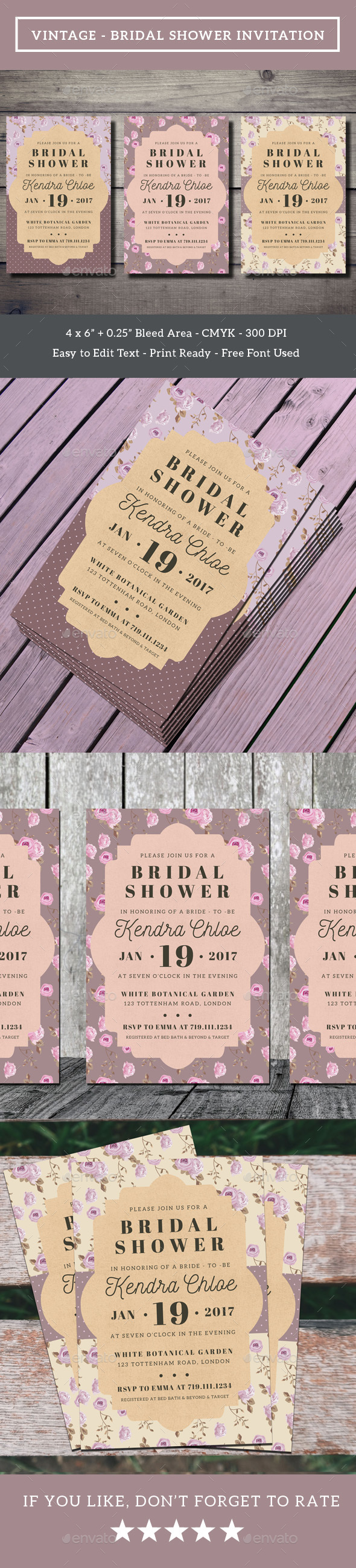 Vintage - Bridal Shower Invitation
