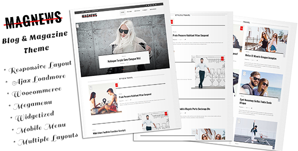 Download Magnews - Clean Blog and Magazine Theme nulled download