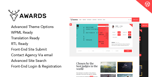 Download Awards - CSS Gallery Nominees Website Showcase Responsive WordPress Theme nulled download
