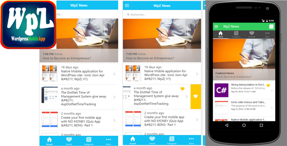 WpZV2 - Wordpress Mobile application Android - CodeCanyon Item for Sale