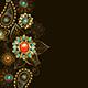 Ethnic Gold Pattern