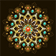 Golden Mandala with Turquoise