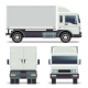 Small Truck Front, Back and Side View for Cargo