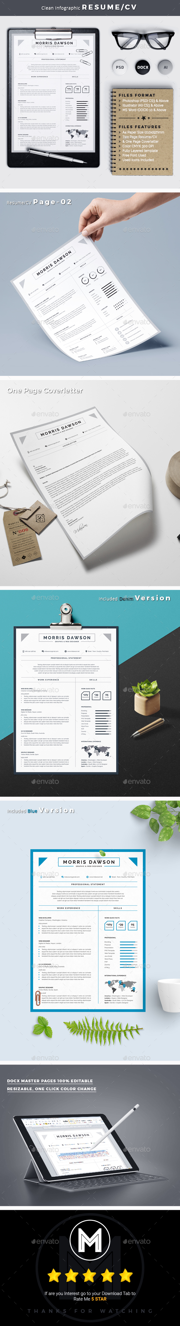 Clean Infographic Resume/CV