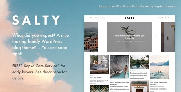 Download Salty - Responsive WordPress Blog Theme nulled download