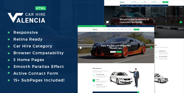 Valencia - Limousine / Transport / Car Hire Template