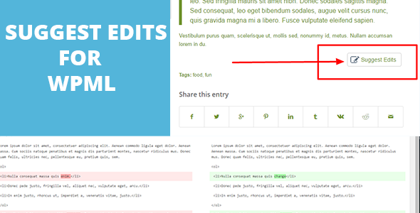 Suggest edits For WordPress