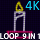 4K Candle VJ 9 in 1