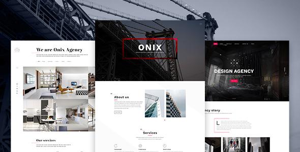 Onix - Multi Purpose Architecture / Interior / Portfolio PSD Template