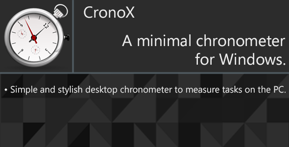 CronoX - Desktop chronometer - CodeCanyon Item for Sale