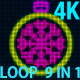 4K Slow Christmas Ball VJ 9 in 1