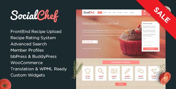 SocialChef - Social Recipe WordPress Theme