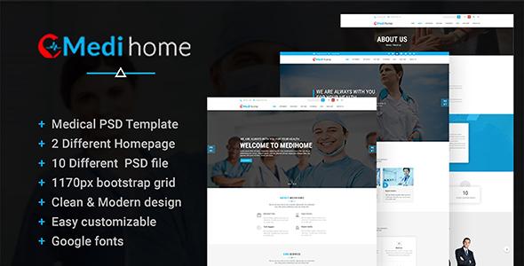 Medihome-Medical PSD Template