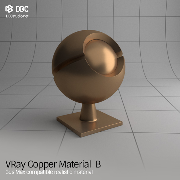 3DOcean 3ds Max V-Ray Ver 3.4 Copper Material B 19261315
