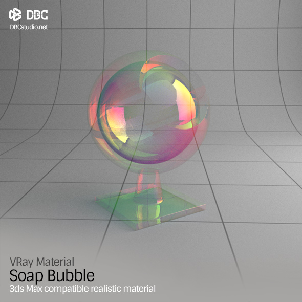 3ds Max V-Ray (Ver 3.4) Soap Bubble Material - 3DOcean Item for Sale