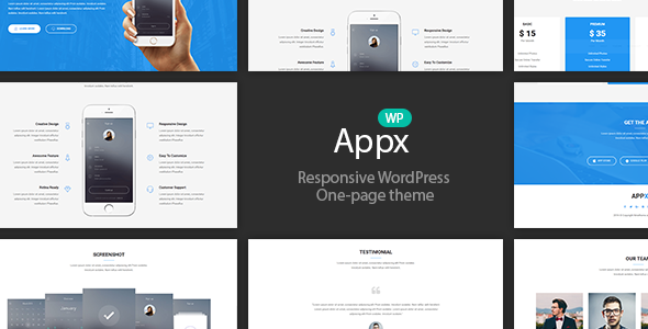 Download Appx - Responsive WordPress App Introduction Page Theme