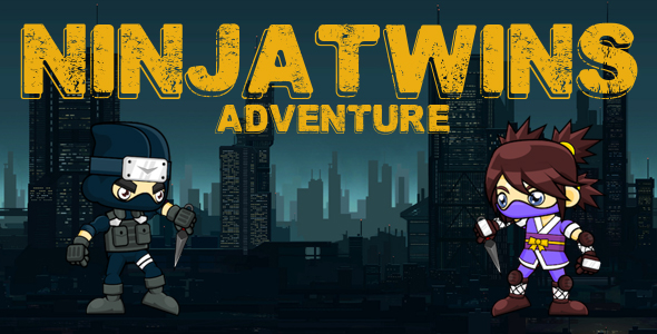 Download NinjaTwins Adventure - iOS - Buildbox 2 file - iAP - Admob - Share feature nulled download