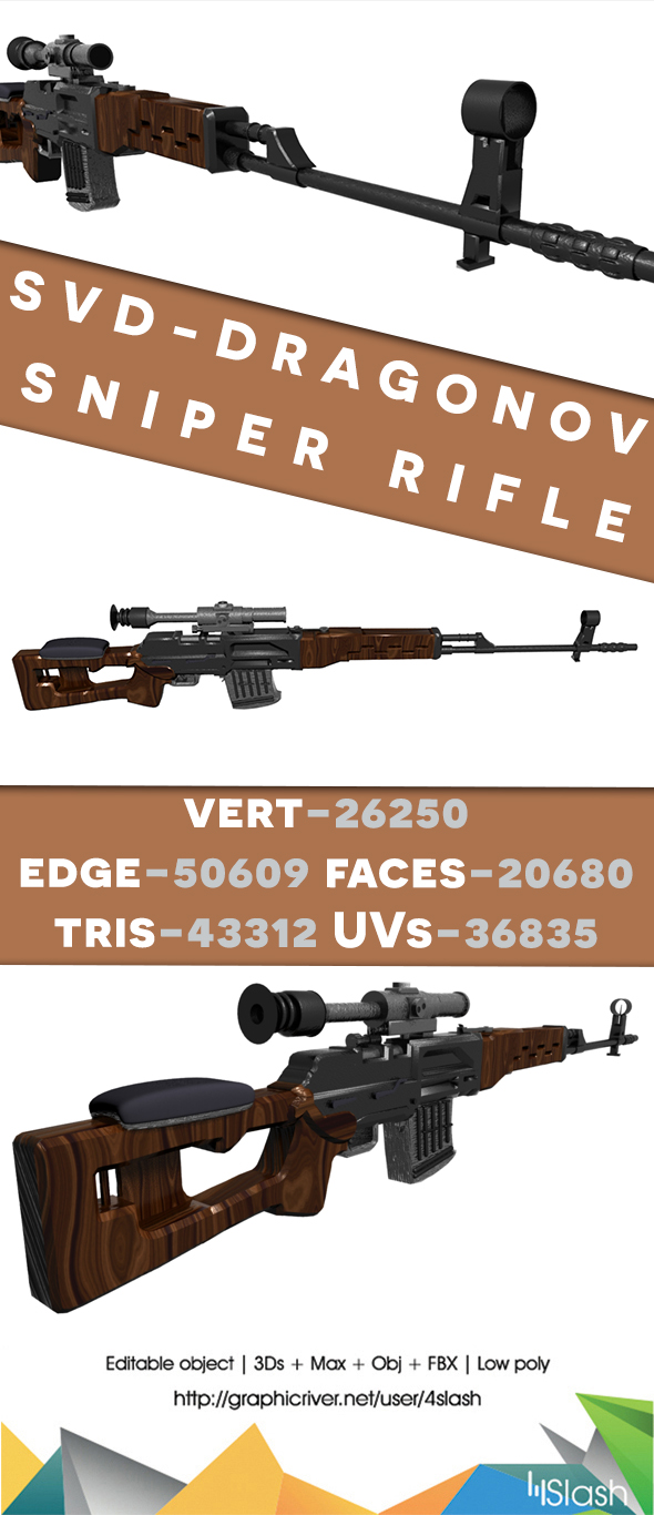 Dargonov Gun - 3DOcean Item for Sale