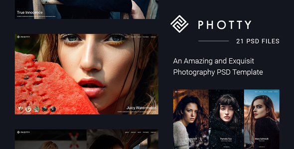 Photty – Photo Gallery and Photoblog Template